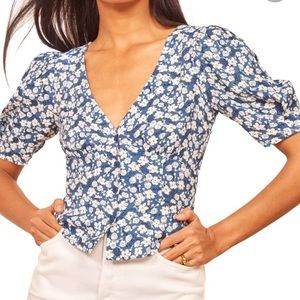 NWT REFORMATION Madeline Raquel Top Size 12